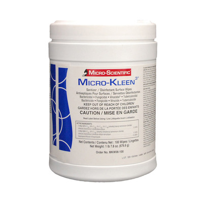 Micro-Kleen 3 Wipes 100/Canister