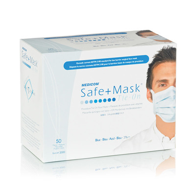 Safe+Mask Surgical Tie-on ASTM 1OP (50)
