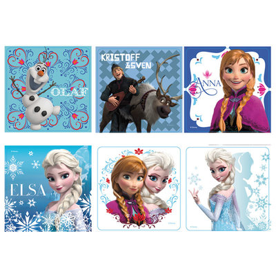 Sticker Disney Frozen Assorted 2.5x2.5 Roll/100