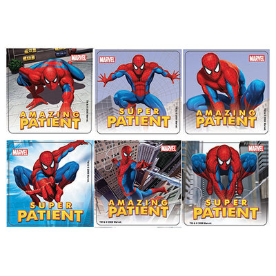 Sticker Spiderman Assorted 2.5x2.5 Roll/100
