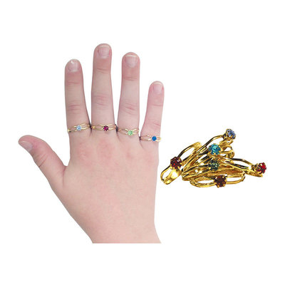 Rings Children's Birthstone Pk/36 Assorted