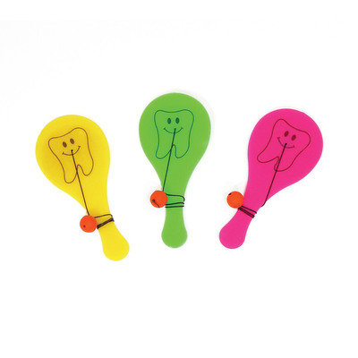 Paddleball Mini Tooth Assorted Pk/48